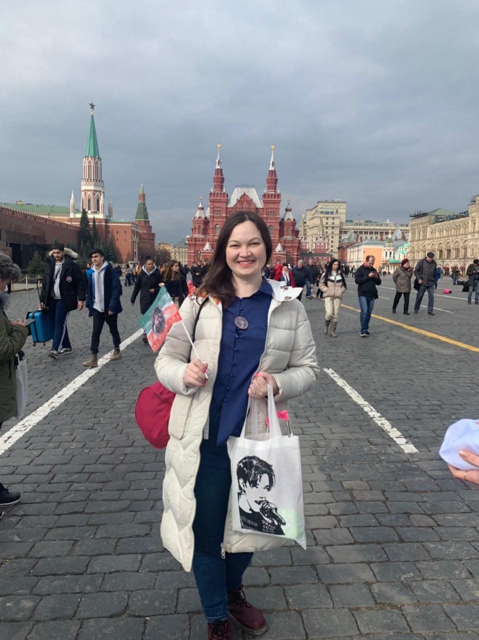 На Красной площади шествие фанатов Димаша