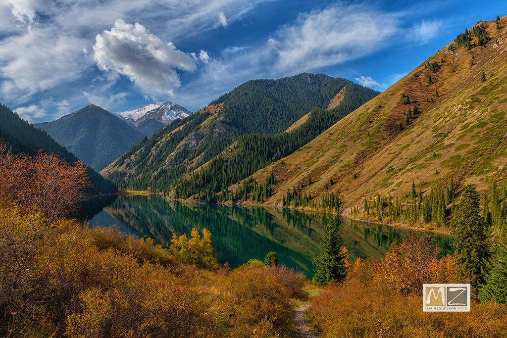 lake Kazakhstan mountains autumn