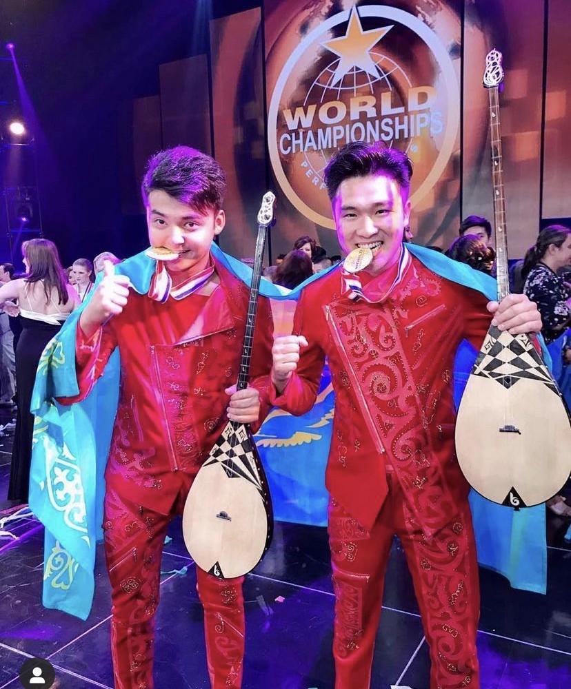 Instrument crossover Kazakh-style: